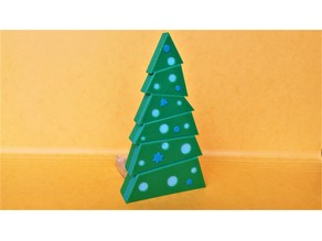 Christmas tree - Three colours, one extruder