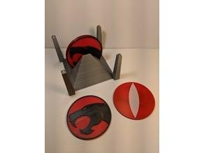Thundercat coaster set with holder