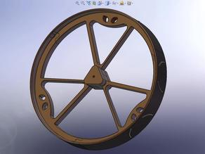 180mm Diameter MegaBoeBot Wheel Kit