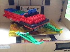 Snowmobile Ski for Lego Axles