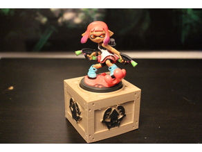 Splatoon Amiibo Stand - Wood Crate