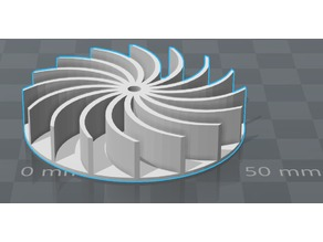 Centrifugal - radial turbine for small electro motor