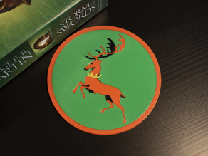 Multi-Color Game of Thrones Coaster - House Baratheon