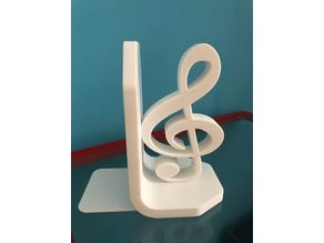 Treble and Bass Clef Bookend