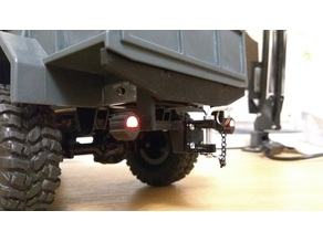 Rear bumper with hook and 5mm LED lights for WPL B-1