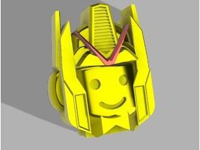 Lego Man Roll Holder : Head Man and Robot Helmet