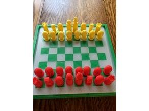 Portable Chess and Checker set