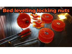 Bed leveling locking nuts