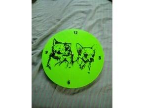 horloge chiwawa 300 mm diametre