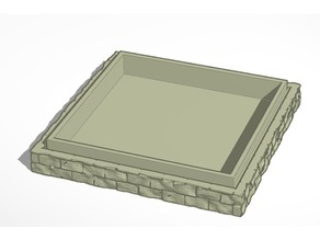Castle Wall Dice Tray - Remix with lid and thicker bottom.
