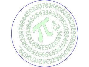 Pie Overlay - 100 digits of pi