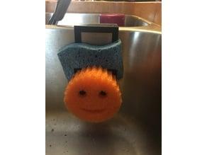 Scrubber sponge rack holder