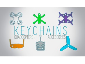 QUADCOPTERS KEYCHAINS - Updated
