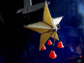 Christmas star and bells