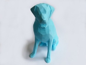 Low Poly Labrador (Dog Statue)