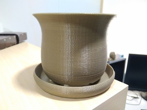 Plant pot with fixed plate