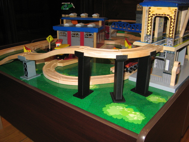 Wooden Train Track Support By Mobydisk Thingiverse
