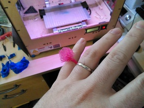 3D Printed PomPom ring