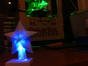 Holiday Star / tree topper with space for led