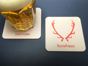 Game of Thrones beverage coasters