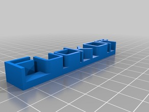 My Customized 3D name plate v2