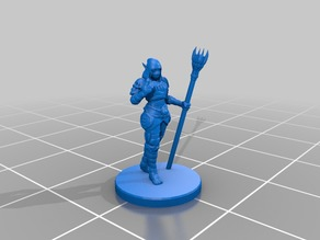 Elf Warlock Miniature