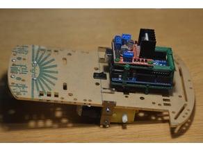 Soportes para Arduino Uno + Controladora L298N motores DC + Chasis SmartCar