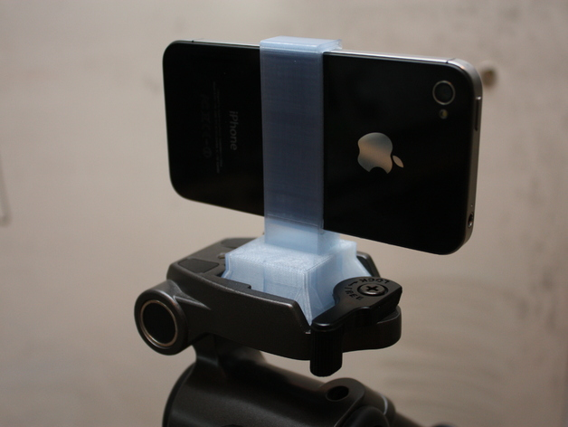 iPhone 4 Clip Mount for Velbon Tripod by kwalus - Thingiverse