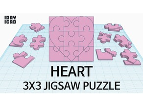 [1DAY_1CAD] 3X3 JIGSAW PUZZLE HEART