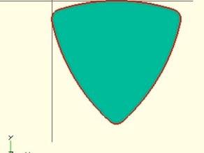 2D Guitar Pick