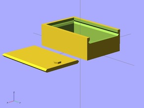 Parametric slide lid box