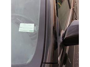 Card Ticket Holder Clip Sticker