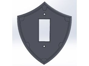 Hylian Shield Switch Plate Single