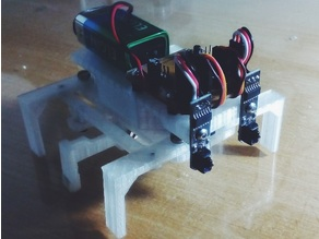 micro Hexapod robot (with two 9g servos)