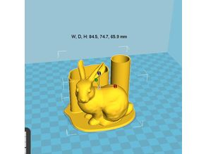 Bunny pen holder