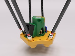 Kossel Mini Magnetic Ball Joint End Effector Upgrade V2