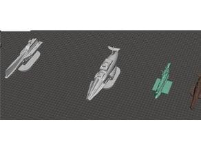 ROBOTECH Inherit the Stars EBSIS Fleet RRT Strategy GAME PIECES set3