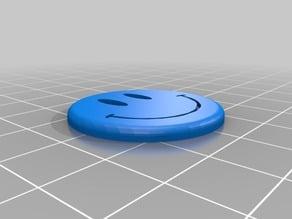 3cm smiley button