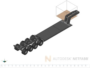 Tamiya Truck Low Trailer total printable