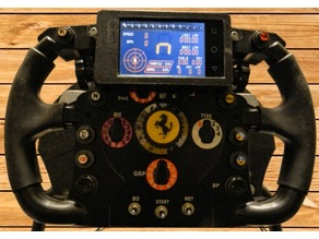 Dashboard Smartphone Cover for Thrustmaster F1 Wheel