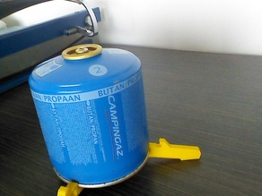 Gas canister stand for camping stove