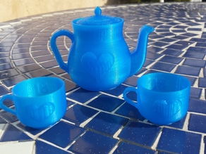 Miniature Heart Tea Set