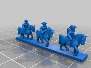 ACW 6mm scale Confederate Cavalry strip