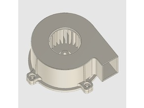 Backcurved centrifugal fan for 540 class motor