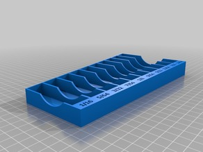 Drill bit organizer tray