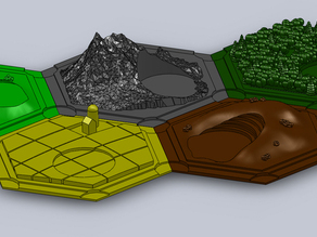 3D Catan Terrain Pieces