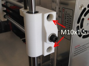 X-Axis Idler End with M10 Threads