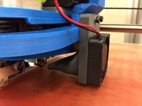 Lulzbot dual extruder fan mount