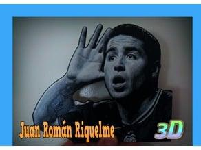 Juan Román Riquelme dibujo 3D