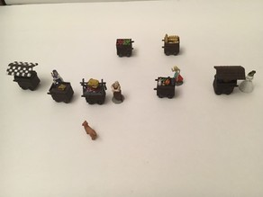 Miniature Medieval Food Carts 2nd Edition